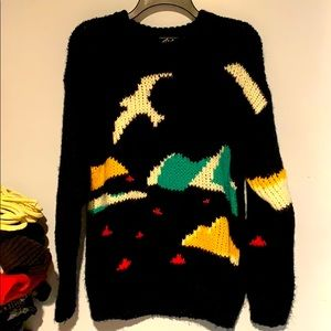 Gigi seagull top 100% lambswool sweater VTG chunky
